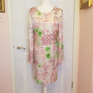 LILLY PULTIZER silk pink & green dress
